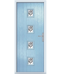 The Uttoxeter Composite Door in Blue (Duck Egg) with Simplicity