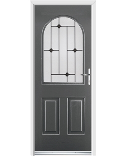 Ultimate Kentucky Rockdoor in Slate Grey with Black Diamonds
