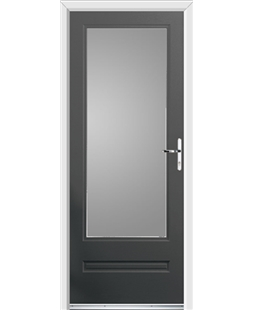 Ultimate Classic Rockdoor in Slate Grey with Glazing