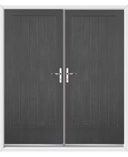 Indiana French Rockdoor in Slate Grey