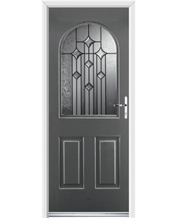 Ultimate Kentucky Rockdoor in Slate Grey with Aquarius Glazing