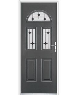 Ultimate Tennessee Rockdoor in Slate Grey with Black Diamonds