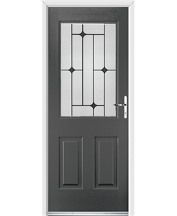 Ultimate Windsor Rockdoor in Slate Grey with Black Diamonds