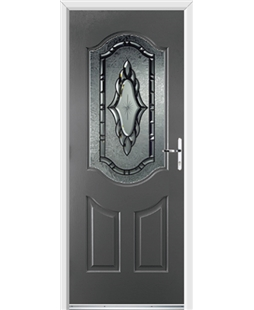 Ultimate Georgia Rockdoor in Slate Grey with Constellation Glazing