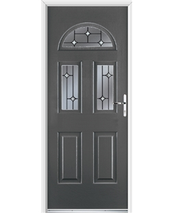 Ultimate Tennessee Rockdoor in Slate Grey with Crystal Bevel