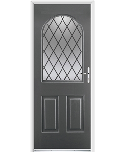 Ultimate Kentucky Rockdoor in Slate Grey with Diamond Lead
