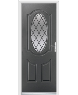 Ultimate Montana Rockdoor in Slate Grey with Diamond Lead