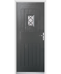 Ultimate Cottage Spy Rockdoor in Slate Grey with Diamond Lead