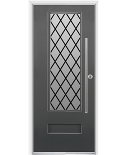 Ultimate Vogue Rockdoor in Slate Grey with Diamond Lead and Bar Handle