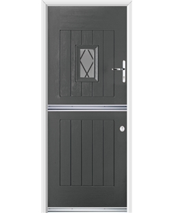Ultimate Stable Spy Rockdoor in Slate Grey with Diamond Lead
