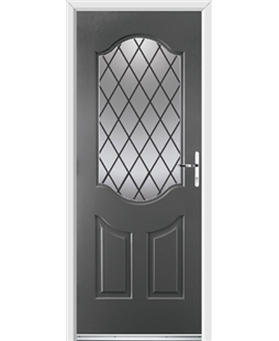 Ultimate Georgia Rockdoor in Slate Grey with Diamond Lead