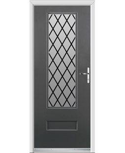 Ultimate Vogue Rockdoor in Slate Grey with Diamond Lead