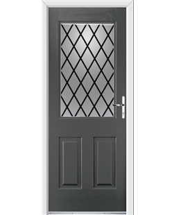 Ultimate Windsor Rockdoor in Slate Grey with Diamond Lead