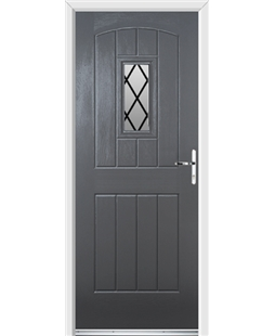 Ultimate English Cottage Rockdoor in Slate Grey with Diamond Lead