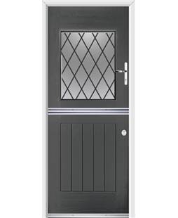 Ultimate Stable View Rockdoor in Slate Grey with Diamond Lead