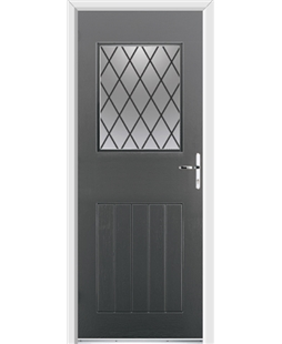 Ultimate Cottage View Rockdoor in Slate Grey with Diamond Lead