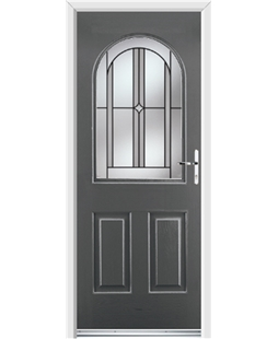 Ultimate Kentucky Rockdoor in Slate Grey with Ellipse Glazing