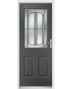 Ultimate Windsor Rockdoor in Slate Grey with Ellipse Glazing