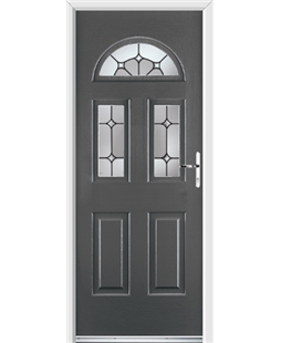 Ultimate Tennessee Rockdoor in Slate Grey with Ellipse Glazing