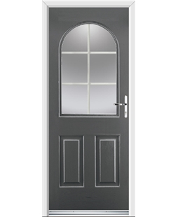 Ultimate Kentucky Rockdoor in Slate Grey with White Georgian Bar