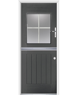 Ultimate Stable View Rockdoor in Slate Grey with White Georgian Bar