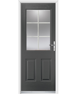 Ultimate Windsor Rockdoor in Slate Grey with White Georgian Bar