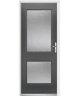 Ultimate Virginia Rockdoor in Slate Grey with Gluechip Glazing