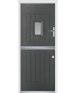 Ultimate Stable Spy Rockdoor in Slate Grey with Gluechip Glazing