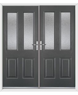 Jacobean French Rockdoor in Slate Grey with Gluechip Glazing