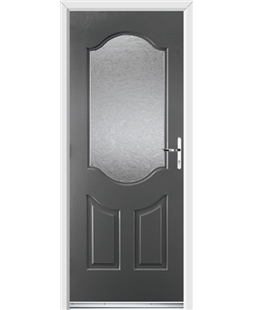 Ultimate Georgia Rockdoor in Slate Grey with Gluechip Glazing