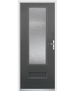 Ultimate Vogue Rockdoor in Slate Grey with Gluechip Glazing