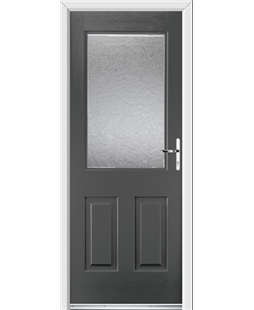 Ultimate Windsor Rockdoor in Slate Grey with Gluechip Glazing