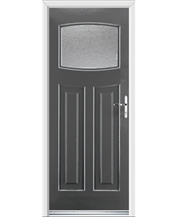 Ultimate Newark Rockdoor in Slate Grey with Gluechip Glazing