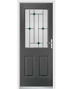 Ultimate Windsor Rockdoor in Slate Grey with Green Diamonds