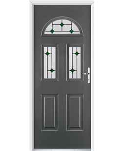 Ultimate Tennessee Rockdoor in Slate Grey with Green Diamonds