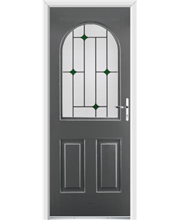 Ultimate Kentucky Rockdoor in Slate Grey with Green Diamonds