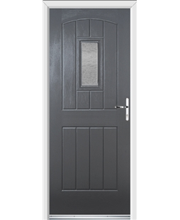 Ultimate English Cottage Rockdoor in Slate Grey with Gluechip Glazing