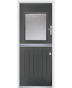 Ultimate Stable View Rockdoor in Slate Grey with Gluechip Glazing