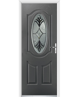 Ultimate Montana Rockdoor in Slate Grey with Libra Glazing