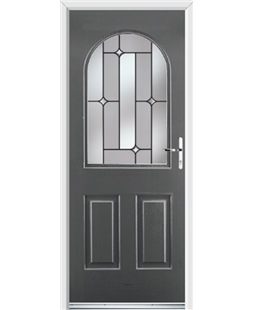 Ultimate Kentucky Rockdoor in Slate Grey with Linear Glazing