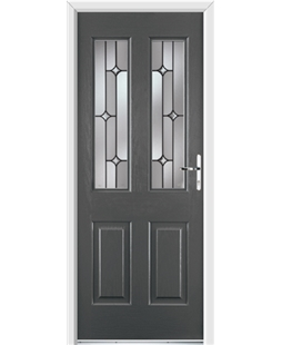Ultimate Jacobean Rockdoor in Slate Grey with Linear