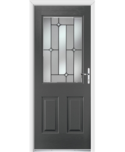 Ultimate Windsor Rockdoor in Slate Grey with Linear Glazing