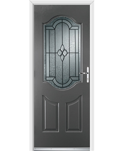 Ultimate Georgia Rockdoor in Slate Grey with Northern Star Glazing