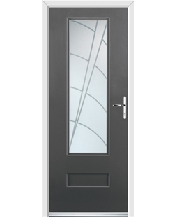 Ultimate Vogue Rockdoor in Slate Grey with Ocean Glazing