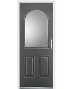 Ultimate Kentucky Rockdoor in Slate Grey with Glazing