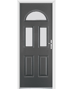 Ultimate Tennessee Rockdoor in Slate Grey with Glazing
