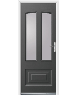 Ultimate Illinois Rockdoor in Slate Grey with Glazing