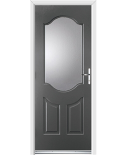 Ultimate Georgia Rockdoor in Slate Grey with Glazing