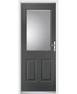 Ultimate Windsor Rockdoor in Slate Grey with Glazing