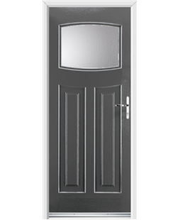Ultimate Newark Rockdoor in Slate Grey with Glazing